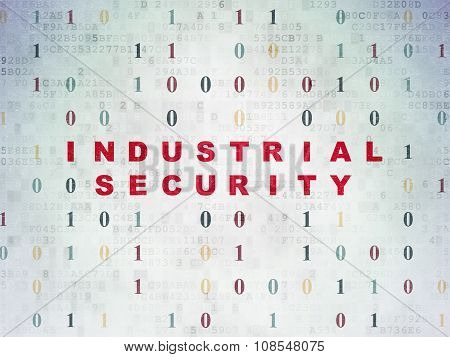 Protection concept: Industrial Security on Digital Paper background
