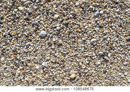 Large Grained Texture Of Damp Sand