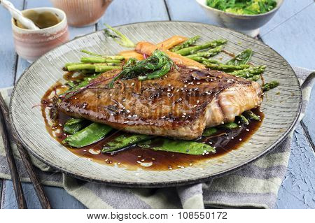 Coalfish Teriyaki with Vegetable