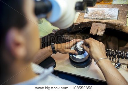Professional Jeweler Working