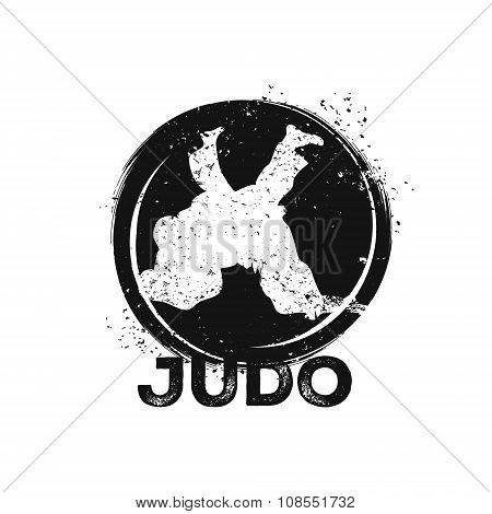 Wrestling illustration. Judo theme.