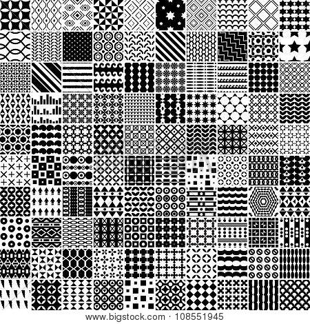 100 Monochrome Pattern.