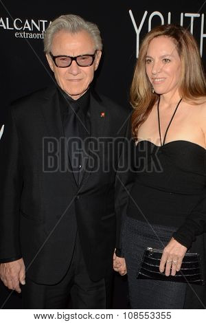 LOS ANGELES - NOV 17:  Harvey Keitel, Daphna Kastner at the
