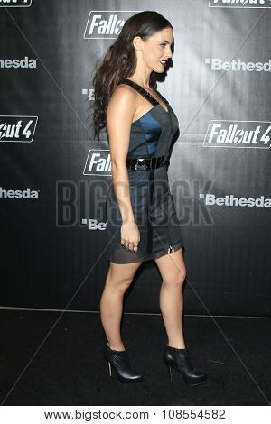 LOS ANGELES - NOV 05:  Jessica Lowndes at the Fallout 4 video game launch  at the downtown on November 05, 2015 in Los Angeles, CA