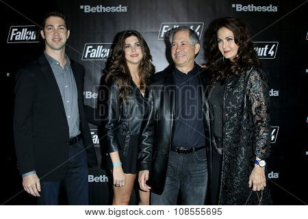 LOS ANGELES - NOV 05:  Lynda Carter, family at the Fallout 4 video game launch  at the downtown on November 05, 2015 in Los Angeles, CA
