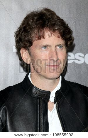 LOS ANGELES - NOV 05:  Todd Howard at the Fallout 4 video game launch  at the downtown on November 05, 2015 in Los Angeles, CA