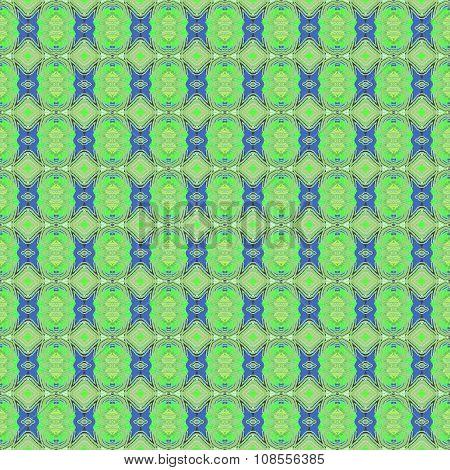 Seamless retro pattern green blue