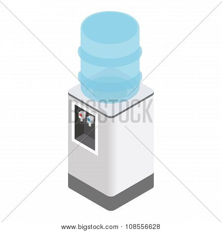 Isometric office water cooler