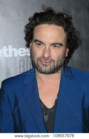 LOS ANGELES - NOV 05:  Johnny Galecki at the Fallout 4 video game launch  at the downtown on November 05, 2015 in Los Angeles, CA