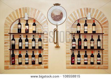 Bellini's wine display in Quezon City, Philippines