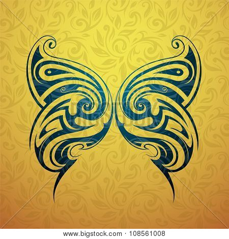 Butterfly tattoo shape