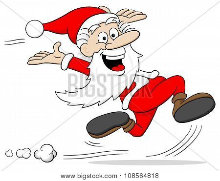 Santa Claus Is Running