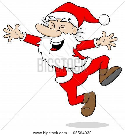 Santa Claus Leaping For Joy