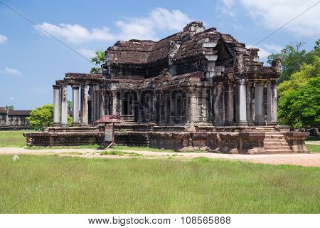 North Library In Angkor Wat  Complex