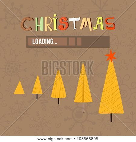 Stylish Concept New Year And Christmas Card In Vector-stock Vector