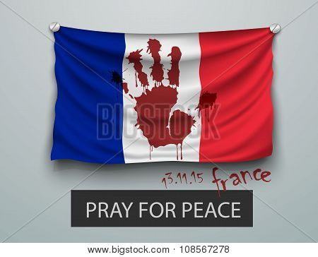 Pray for Paris terrorism attack, flag paris