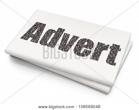 Advertising concept: Advert on Blank Newspaper background