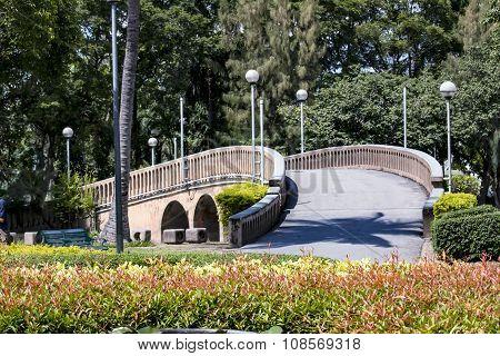 pedestrian bridge in a Park Bangkok