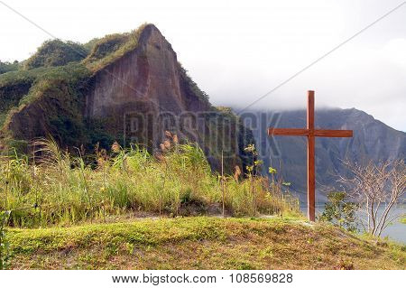 Crater of Mount Pinatubo Cross in Tarlac, Philippines