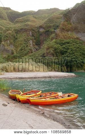 Mount Pinatubo Crater Boats