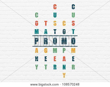 Advertising concept: Promo in Crossword Puzzle