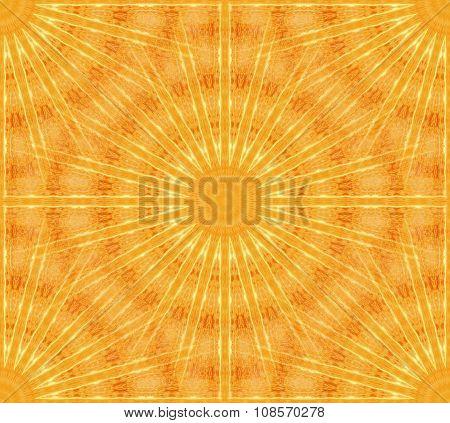 Seamless stars pattern yellow orange