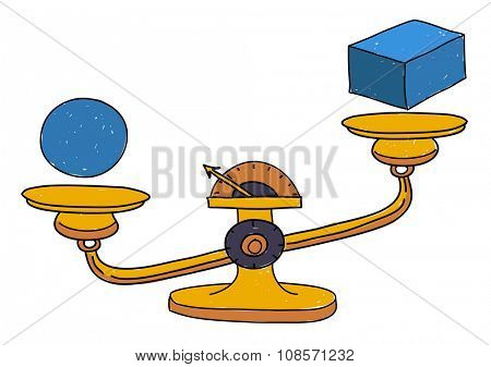 Possibility Balance Scales Circumstance Occasion Concept