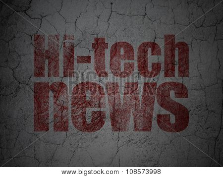News concept: Hi-tech News on grunge wall background