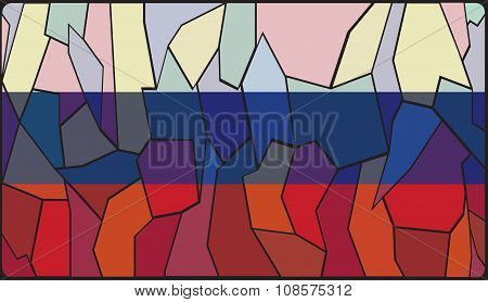 Russia Flag Stained Glass Window