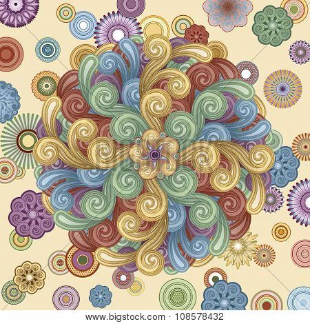 Funky Background With Swirls