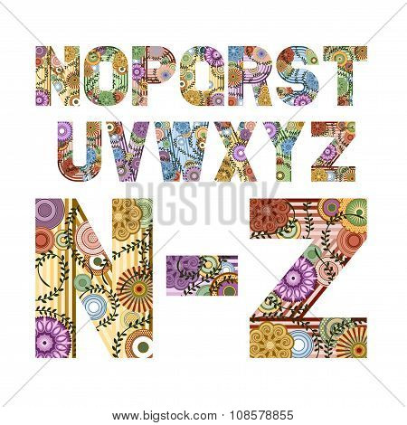 Funky Letters From N To Z