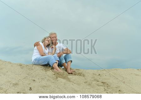 Amusing elderly couple