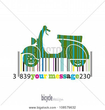 Moped Of Colored Stripes Barcode