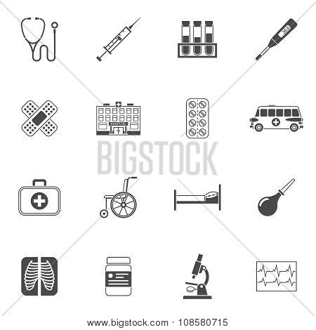 Medical Icons Black