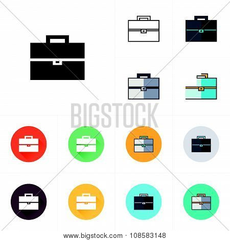 Briefcase Black And White Icon