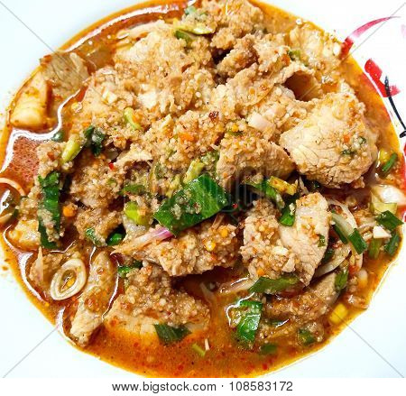 Spicy Bbq Pork Salad, Spicy Grilled Pork Salad