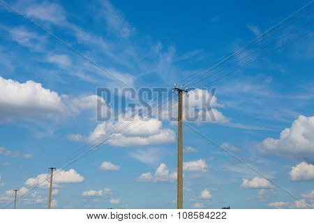 Sky With Clouds. Energy