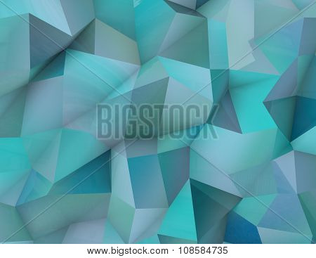 Abstract Light Blue Triangulated Background.