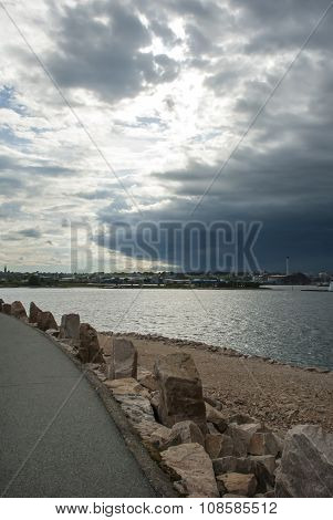 Oncoming Storm Over New Bedford