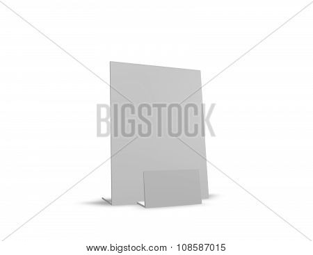 Leaflet Holder Isolated On White.