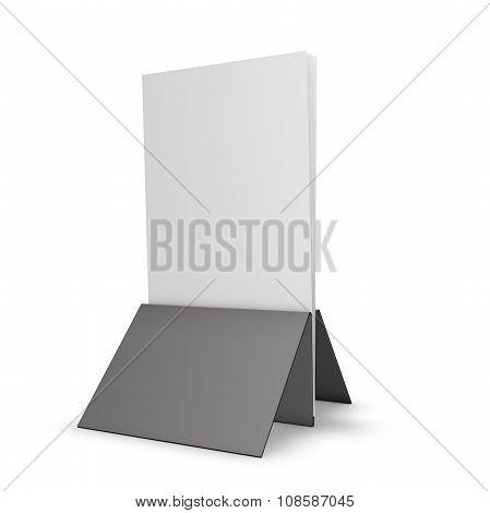 Leaflet Holder Illustration Isolated On White Background.