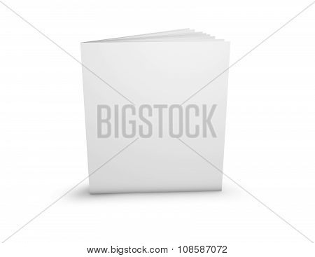 Advertising Brochure Presentation Template With Blank Cover Standing On Floor.