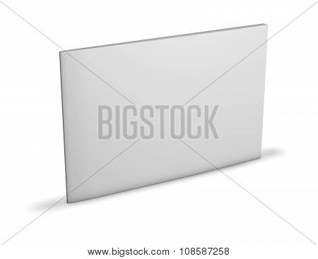 Rectangular Booklet With Blank Cover Standing On Floor.