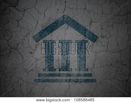Law concept: Courthouse on grunge wall background