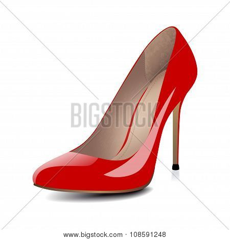 High heels red shoes