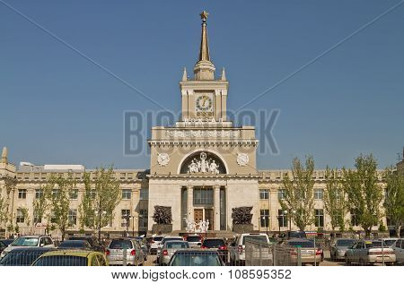 Building Of The Central Railway Station Of Volgograd