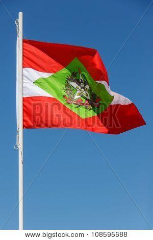 Flag of Santa Catarina state in Brazil