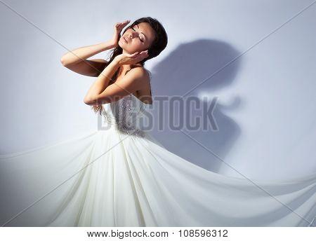 Bride studio portrait
