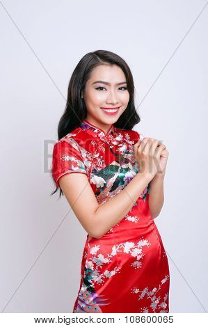 Happy Chinese new year Asian woman