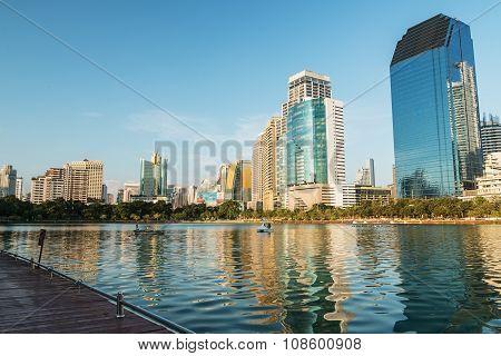 Business District Of Bangkok